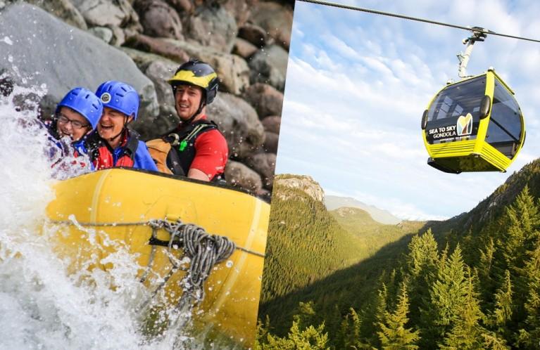 Cheakamus Rafting & Sea to Sky Gondola Combo